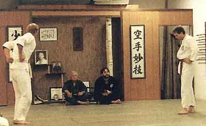 Clive testing for Shodan in 1985 with Profs. Kufferath and Janovich.