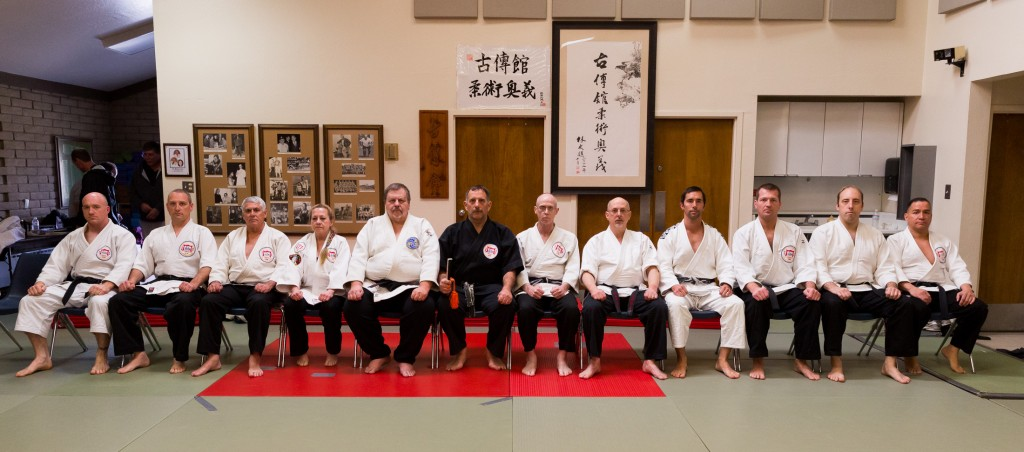 Instructors of the Kodenkan, 2013, including Prof. Clive Guth