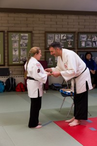 Sensei Tammy Webb receives her kaidensho at Okugi 2013