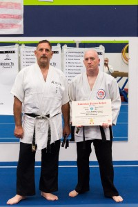 Sensei Dan van Hook promoted to 3rd Dan by Prof. Tony Janovich