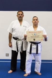 Sensei Guillermo Hernandez receives his Nidan