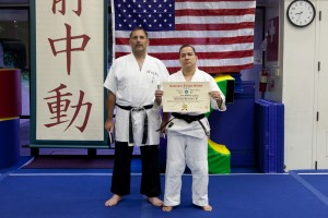 Sensei Guillermo Hernandez receives his Shodan