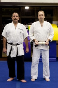 Sensei Karl Mueller receives his Sandan in 2010