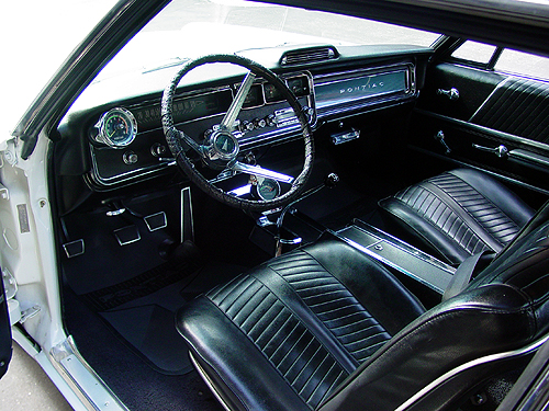 Interior view of the 1966 Pontiac 2+2