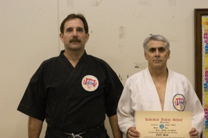 Sensei Cliff Reis receives his Nidan
