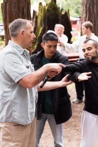 Prof. Janovich instructs in tanju (gun defense) at the 2015 Camp DZR