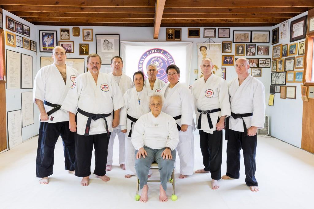 Special Black Belt Class at Alameda Judo/Jujitsu Club. Instructors: Profs. Janice Okamoto and George Arrington. Special Guest: Bernice Jay