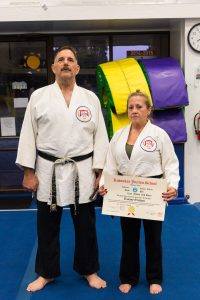 Sensei Tammy Webb received her godan from Prof. Tony Janovich