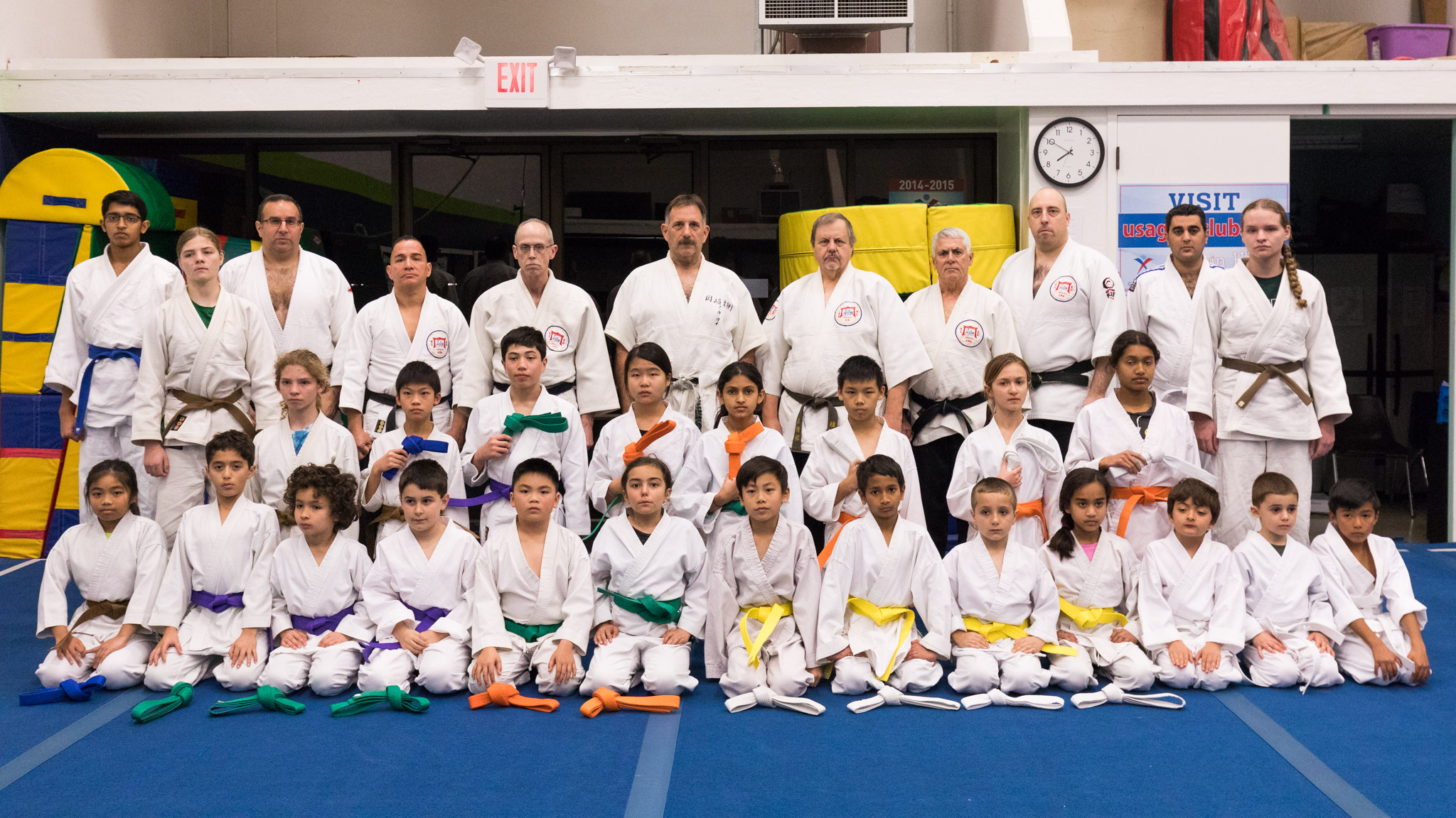 Kids promotees with adult students and instructors, January 31st, 2017